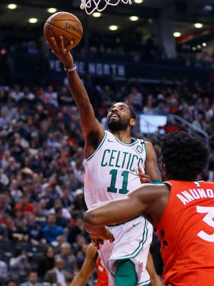 Kyrie Irving scored 17 points in the Celtics' loss to the Raptors.