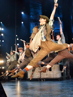 """The Broadway in Detroit holiday offering for 2015 is """"Newsies,"""" a musical inspired by a real-life strike by newsboys in 1899. It opens Tuesday at the Detroit Opera House."""