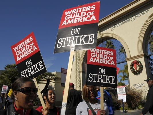GTY DIVERSE WRITERS AND ACTORS SUPPORT WGA STRIKE A FIN USA CA