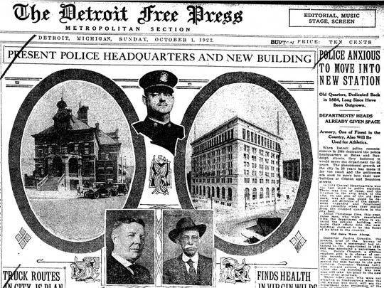 The metro front of the Detroit Free Press dated Oct.