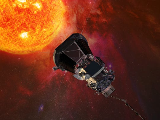 A rendering of NASA's Parker Solar Probe, which will