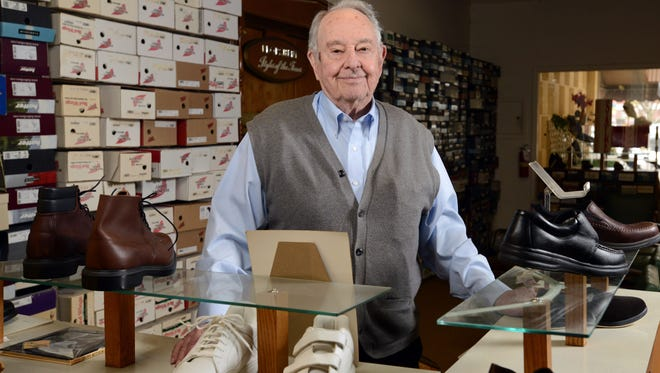 Jim Johnson is the owner of Johnson's Shoes in downtown Lancaster. Johnson is retiring next month and plans to close the store. The 89-year-old has worked at the store since 1956.