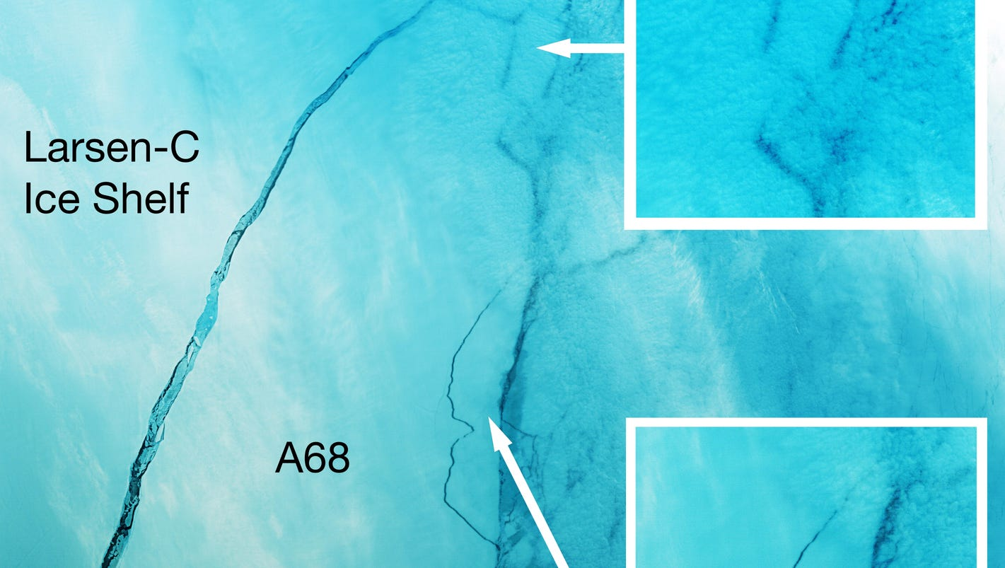 New satellite images show massive Antarctica iceberg slowly drifting out to sea