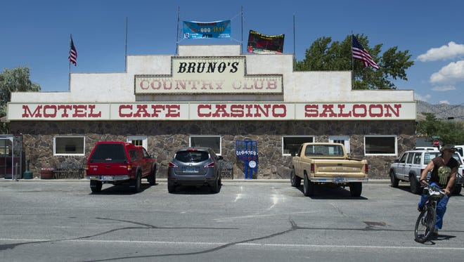 Bruno's in downtown Gerlach, Nev.,  on Thursday, July 3, 2014.