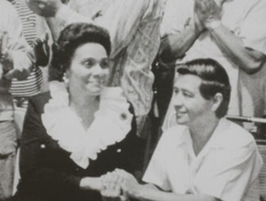 Coretta King and Cesar Chavez