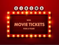 LAST CHANCE: Win Dinner and Movie Tickets for a Year!