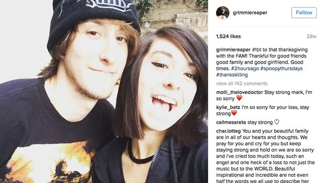Mark Grimmie jumped on his sister's shooter Friday night.