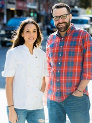 Chef Leah Cohen and her partner/husband Ben Byruch