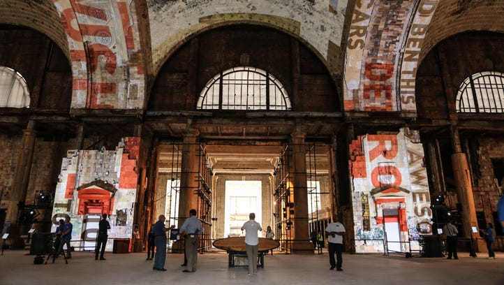 People get a look inside Michigan Central Station as