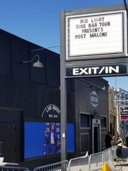 Post Malone's name is on the marquee at Nashville's