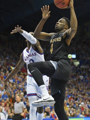 Oakland senior Jalen Hayes, a Lansing Sexton graduate, is averaging better than 19 points per game for the Golden Grizzlies.