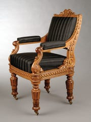 Designed by Thomas Ustick Walter, manufactured by Hammitt Desk Manufacturing Company, Philadelphia, House of Representatives Chamber Arm Chair, 1857