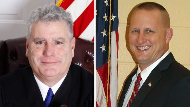 Sgt. Tim Biggins is challenging 17-year incumbent District Judge Mark Beauchat for the magisterial office that covers western Adams County.