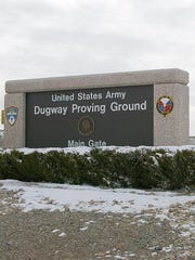 An entrance to the Army's Dugway Proving Ground In