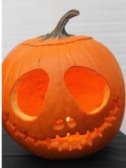 Jack Skeleton pumpkin made by Western New Mexico University student Gemma Goodland that won the individual contest for WNMU's pumpkin carving contest.