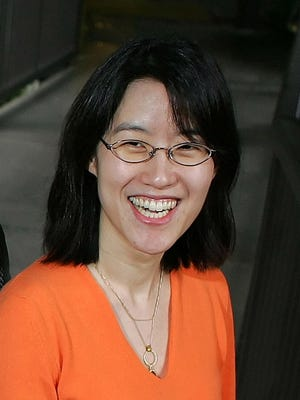 In this April 4, 2006 file photo, Ellen Pao is pictured outside of her office in Menlo Park,