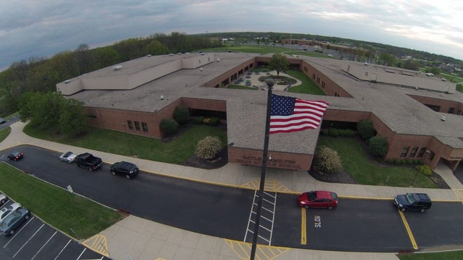 This aerial photo of Gray Middle School in Union was taken with Quadcopter drone by Stuart Ferguson.