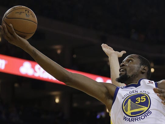 Golden State Warriors' Kevin Durant Durant considers