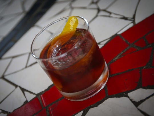 The Dirty Centaur, one of the craft cocktails at Proof