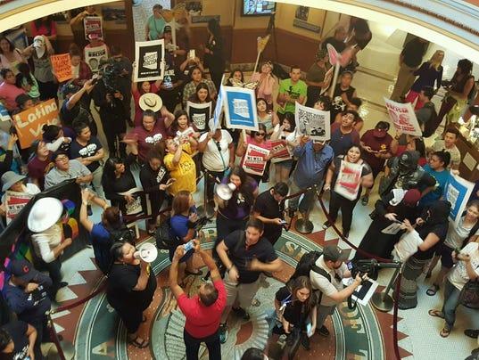Hundreds occupy Arizona State Capitol