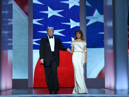 President Donald Trump and the first lady Melania Trump