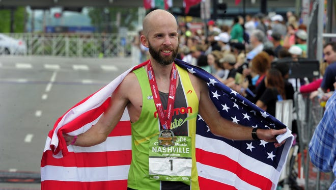 Scott Wietecha hopes to celebrate his fourth consecutive victory in the St. Jude Rock 'n' Roll Marathon Nashville Saturday.