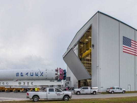 A SpaceX Falcon 9 rocket booster that launched a mission