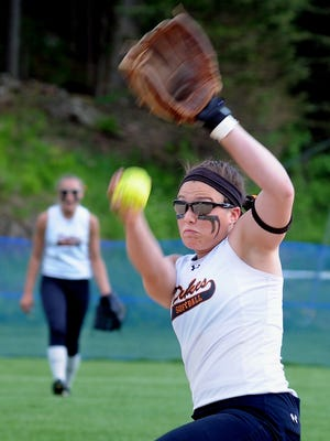 Marlboro High School pitcher Aubrey Bianco fires a pitch against Franklin D. Roosevelt on Monday at Rhinebeck High School.