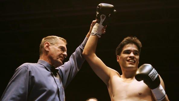 Jose Celaya of Salinas is announced the winner of Fight