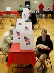 Voters cast their ballots in the US presidential primary