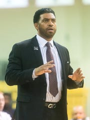 UMES heard coach Fred Batchelor reacts to a call at the William P. Hytche Athletic Center in Princess Anne.