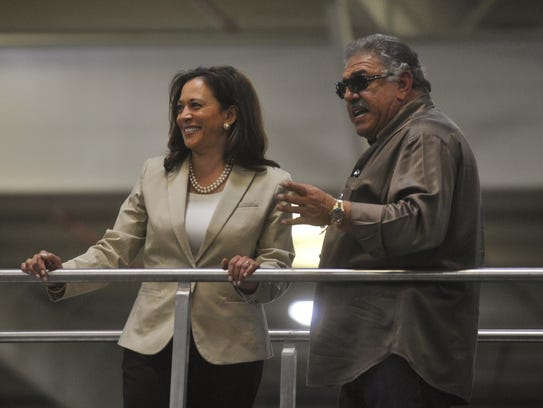 U.S. Senator Kamala Harris toured Fresno's Fowler Packing