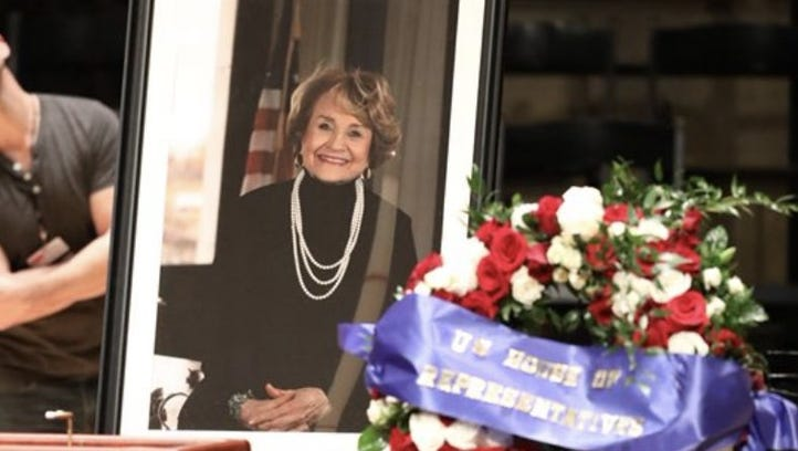 Louise Slaughter funeral: Luminaries, friends, family mourn 'Louise'