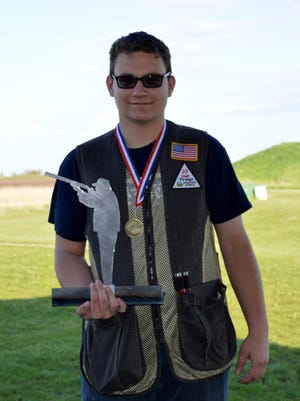 Carl Preston of the Ankeny Centennial Jaguar trapshooting team had a perfect score of 50/50 at the May 7 meet in Waukee. He received Top Shot of the varsity division and of the entire meet of 104 shooters.
