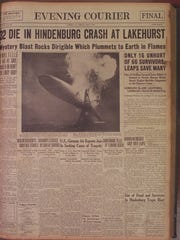 Front Pages of the Courier-Post 1937 - Hindenberg