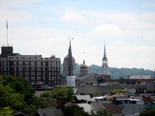 A view of the dome and downtown York from Think Loud Development's rooftop patio during a green walking tour in downtown York Friday, June 5, 2015. The tour was sponsored by USGBC Central Pennsylvania and hosted by State Rep. Kevin Schreiber, D-York.  Kate Penn -- Daily Record/Sunday News