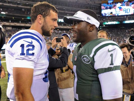 Jets Vick greets Colts Luck