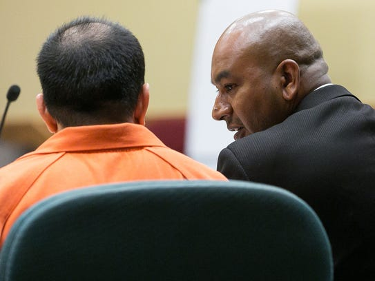 Former El Paso County Judge Anthony Cobos, left, and