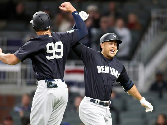 USP MLB: SPRING TRAINING-NEW YORK YANKEES AT ATLAN S BBN ATL NYY USA GA
