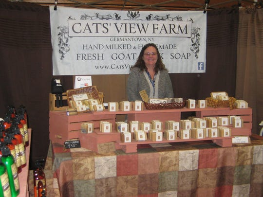 Jade Craven from Cats' View Farm in Germantown is among the exhibitors at the annual craft fair held Saturday and Sunday at Dutchess Community College, Poughkeepsie.