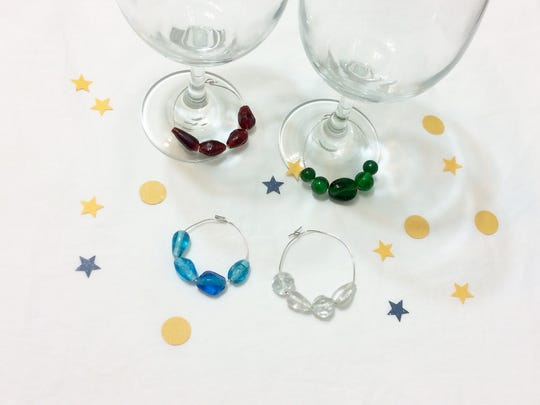 Beaded glass markers help your guests keep track of their glasses.