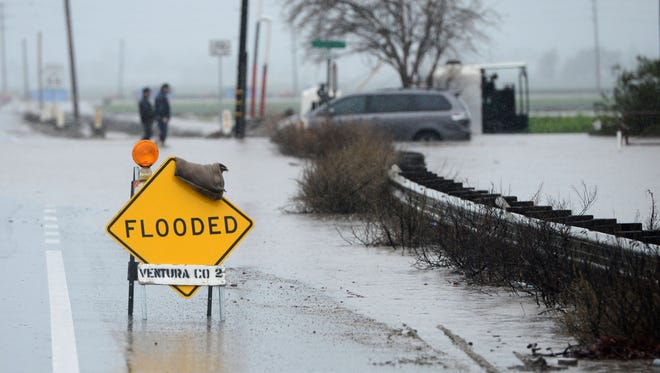 State Road 34 has been closed in Camarillo due to flooding.