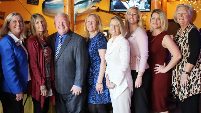Association of Fundraising Professionals, Treasure Coast Chapter Board of Directors are, from left, Dawn Abate, Melanie Forget, Gigi Suntum, Monte Kosoff, Wendie Berardi, Renee Booth, Elisabeth Glynn, Roxanne Knight, Lucy Corley, and Lisa Rymer.