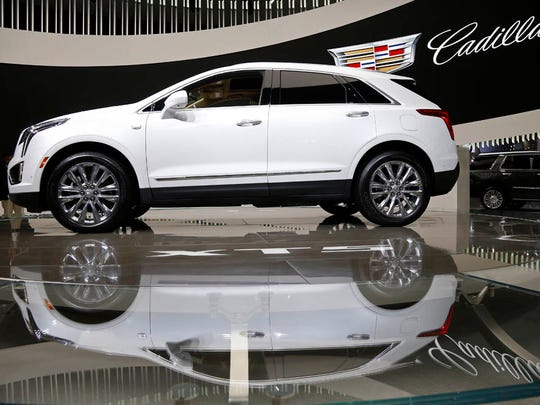 The 2017 Cadillac XT5 is on display during the Los