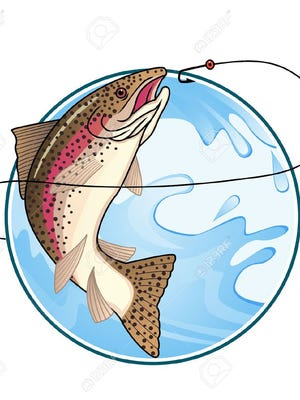 Trout Fishing Logo