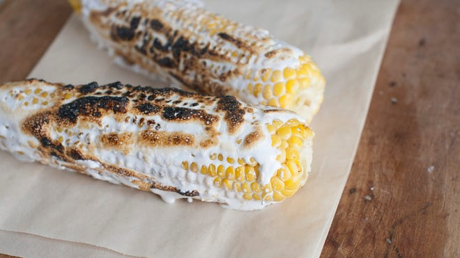 This July 21 photo shows fresh corn with toasted marshmallow in Concord, N.H.