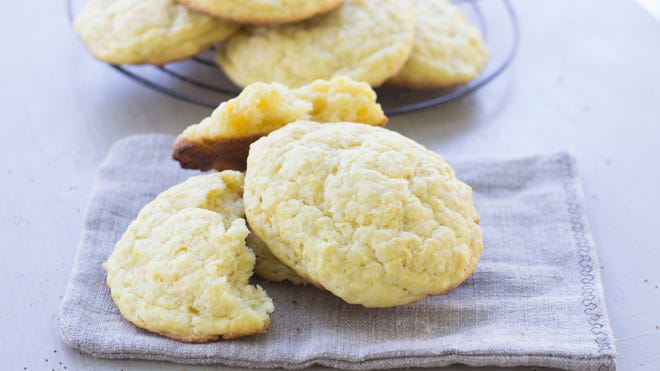Butternut squash can be used to make these easy squash biscuits.