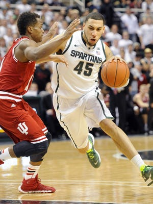 MSU's Denzel Valentine and Indiana's Yogi Ferrell have been battling each other for four seasons.