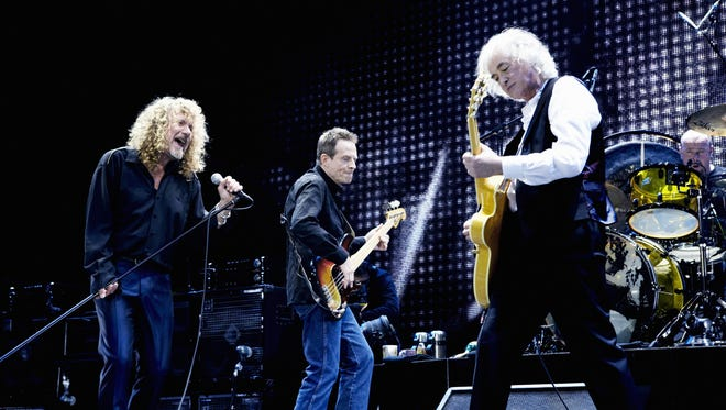 Robert Plant, John Paul Jones and Jimmy Page in 2007. The music of Led Zeppelin will be celebrated with laser light shows at Rowan University's planetarium.
