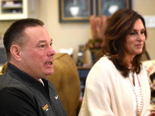 Butch Jones at home with his wife Barb